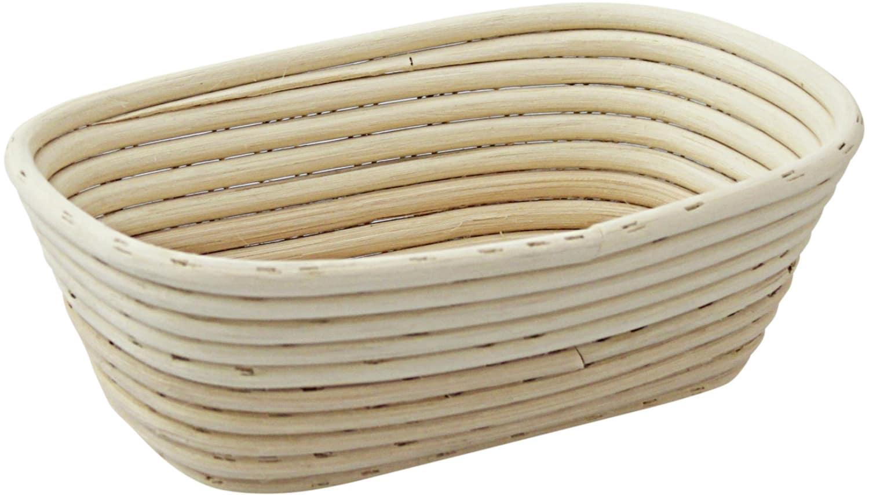 Brotformen / Gärkörbe lang, runder Kopf geflochtener Boden