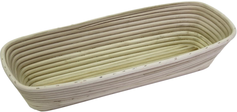 Brotformen / Gärkörbe lang, eckiger Kopf geflochtener Boden