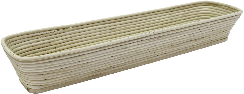 Brotformen / Gärkörbe lang, eckiger Kopf für Schnittenbrot Holzboden