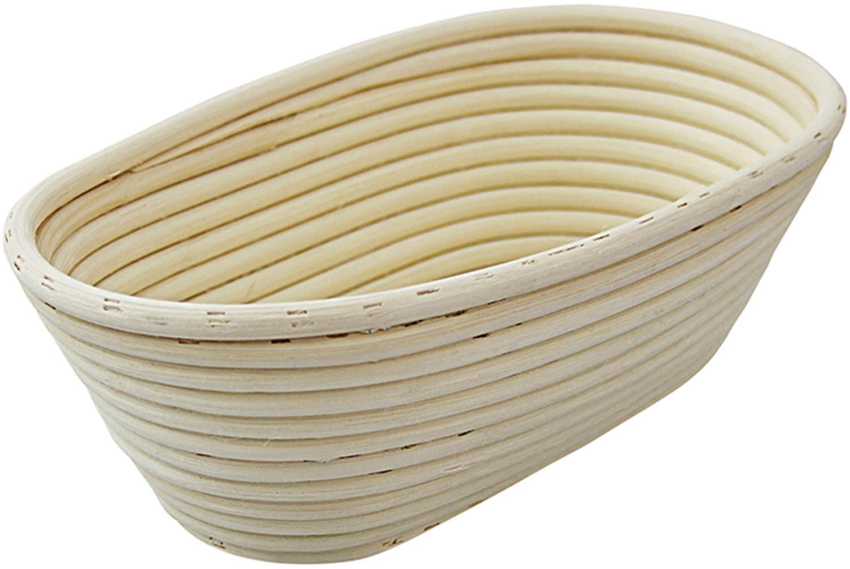Brotformen / Gärkörbe oval geflochtener Boden