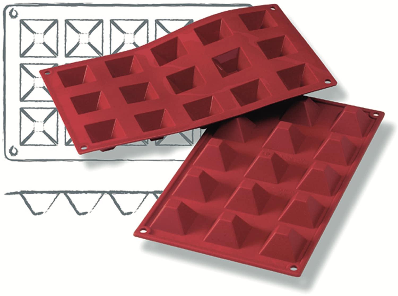 "Silikon-Backformen ""Pyramide"" 300 x 175 mm"