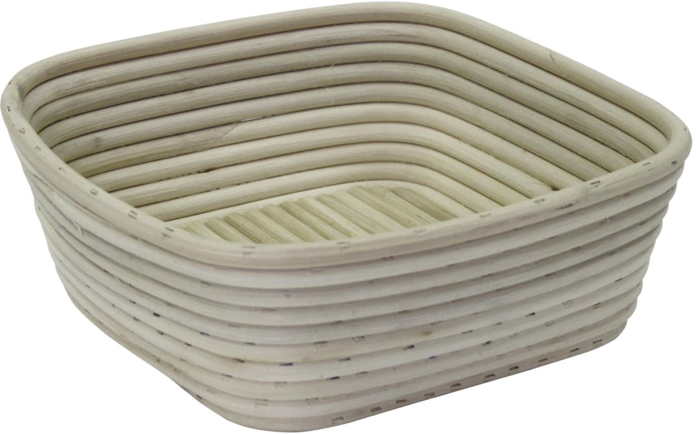 Brotform / Gärkorb Quadrat geflochtener Boden