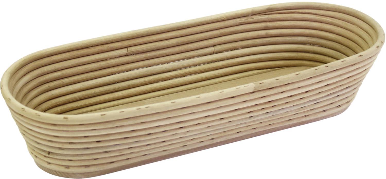 Brotformen / Gärkörbe lang, runder Kopf Holzboden