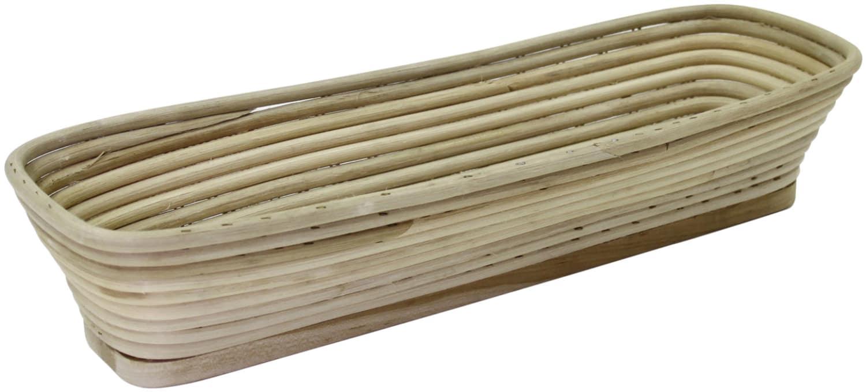 Brotformen / Gärkörbe lang, eckiger Kopf Holzboden