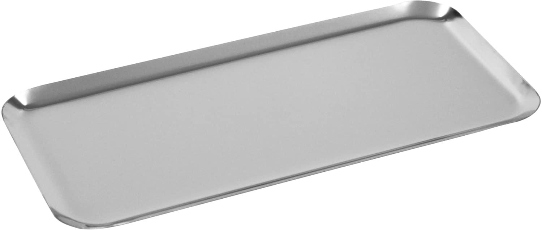 Auslagetabletts rechteckig gerader Rand poliert
